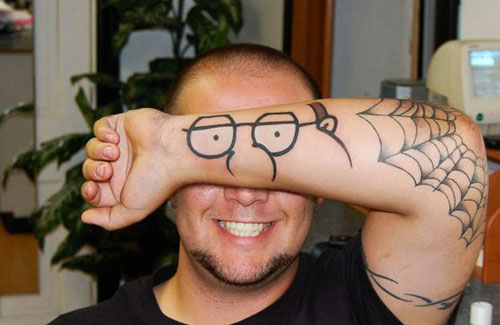 Family Guy Peter Griffin Arm Tattoo