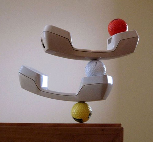 Telephone Handset and Golf Ball Balance