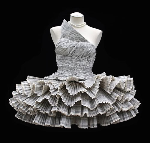 Recycled Phone Book Dress