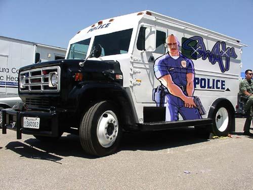 Police Truck Graffiti