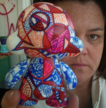 Munny Doll Graffiti Artwork by Rosie O'Donnell
