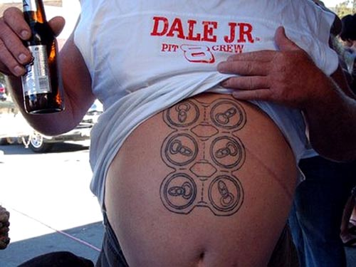 Tags: beer, body art, drinking, funny, photo, six pack, tattoo