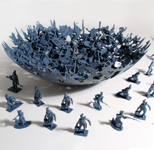 Plastic Toy Soldier Bowl