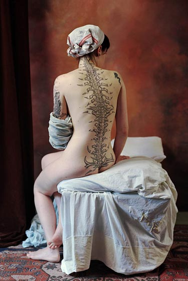 Spine Tattoo | Ingres, The Bather (Redux). The Bather (Redux)