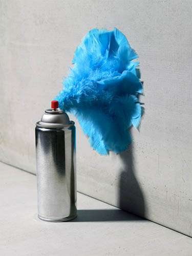 Spray Can Feathers