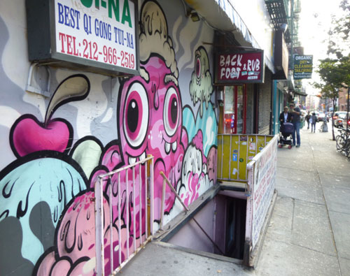 Ice Cream Graffiti Mural By Buff Monster In Soho, New York