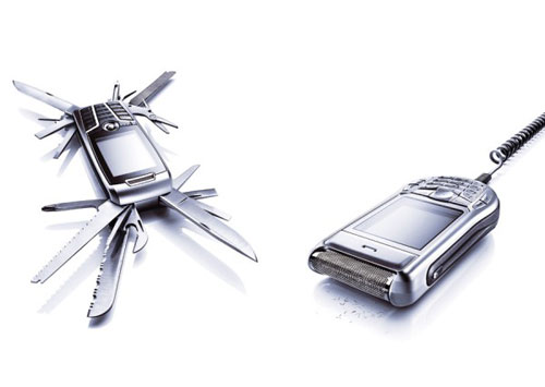 Swiss Army Knife & Electric Shaver Cell Phones
