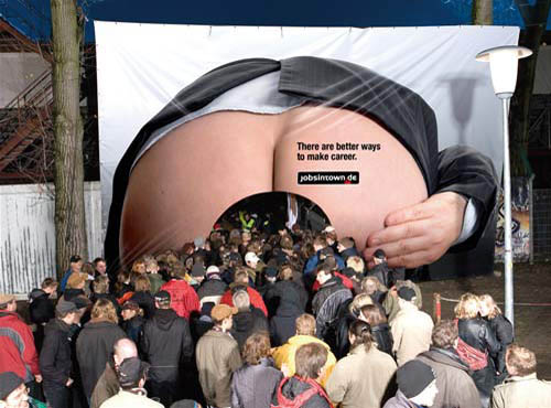 Bad Ass Advertising - Funny Billboard Ad Campaign for Jobs In Town Germany