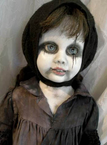 Vintage Chatty Cathy Doll Remade Gothic Style