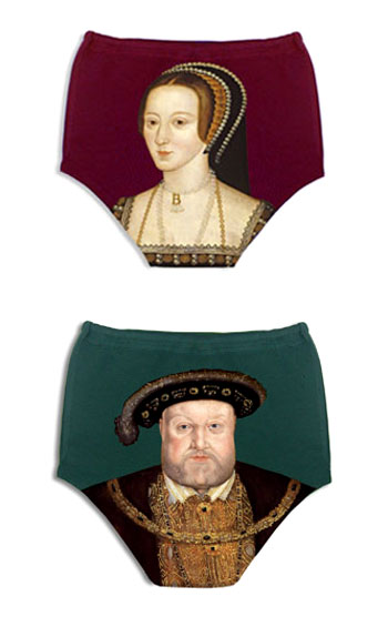 Anne Boleyn and Henry VIII Underwear