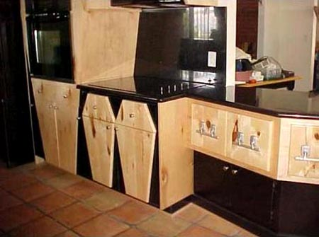 Kitchen Cabinets In The Shape Of Coffins