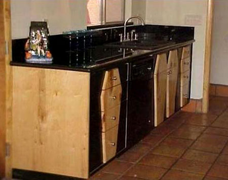 Coffin Cupboards and Sink