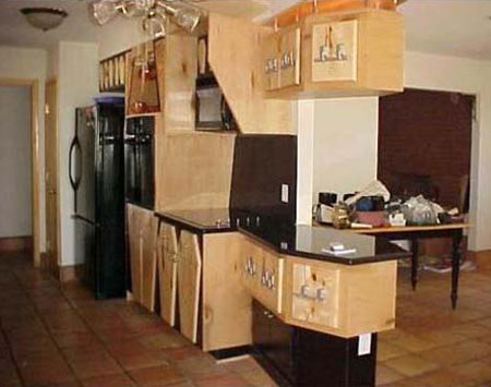 Coffin Decorated Kitchen