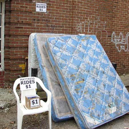 Mattress Rides for One Dollar