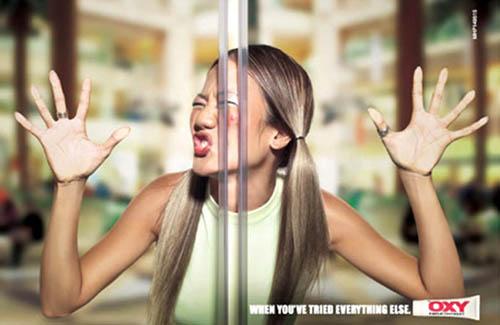 Bizarre Acne Cream Print Ad
