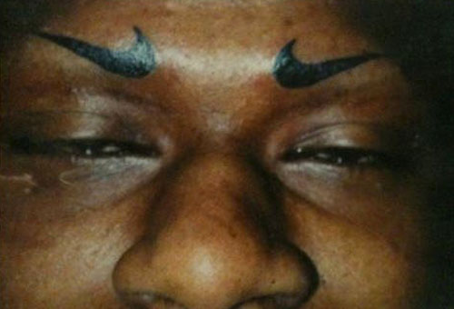 Nike Swoosh Eyebrows
