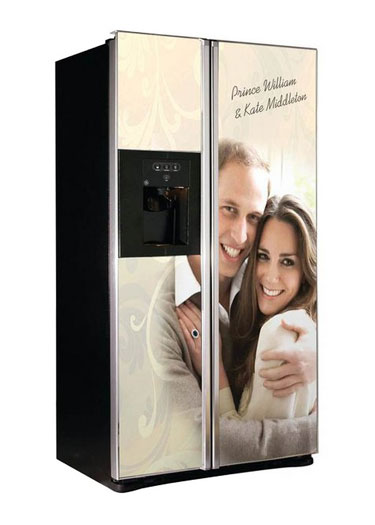 William and Kate Commemorative Refridgerator