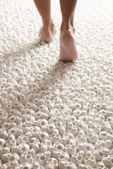 Walking On Miniature Porcelain Skulls