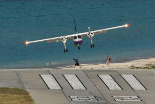Beach Airport Landing