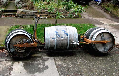 Keg Barrel Motorcycle