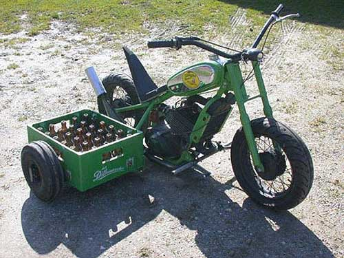 Beer Transported in Motorcycle Sidecar
