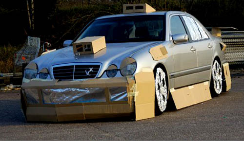 Mercedes Cardboard Ground Effects And Spoilers Mock-Up