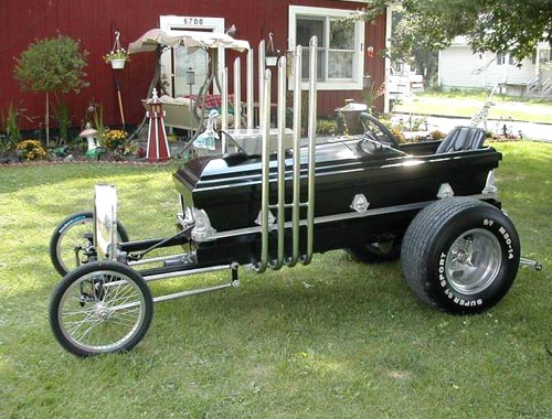 Casket Shaped Hot Rod