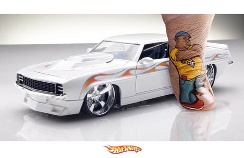 Mustang Hot Wheels Finger Model Print Ad