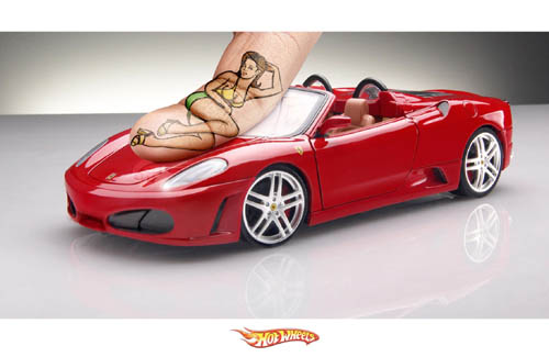 Ferrari Hot Wheels Finger Model Ad