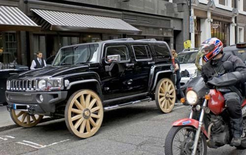 Wagon Wheel Hummer Funny Bizarre Amazing Pictures Videos