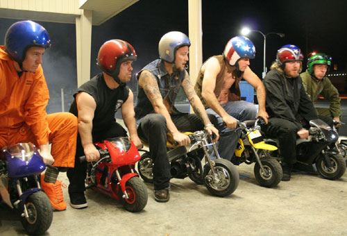 Jackass Cast On Minibikes