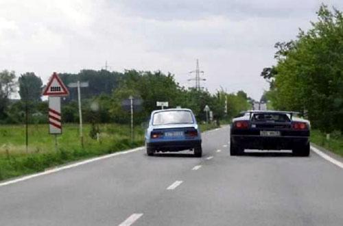 Passing A Lamborghini Diablo