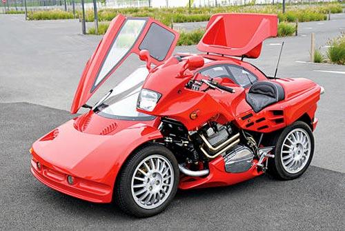 Citroen Xantia Motorcycle Sidecar 187 Funny Bizarre