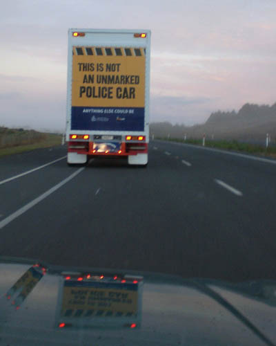 Unmarked Police Car Awareness Sign