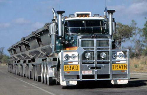 Six Trailer Road Train Truck