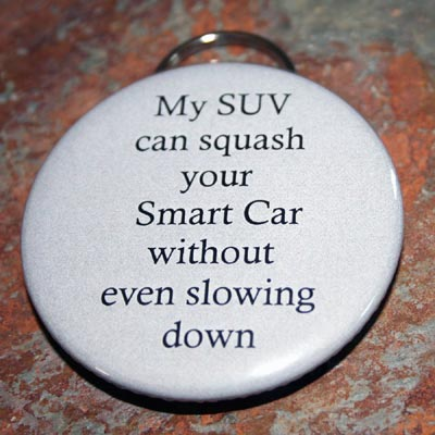 My SUV Can Squash Your Smart Car Without Even Slowing Down