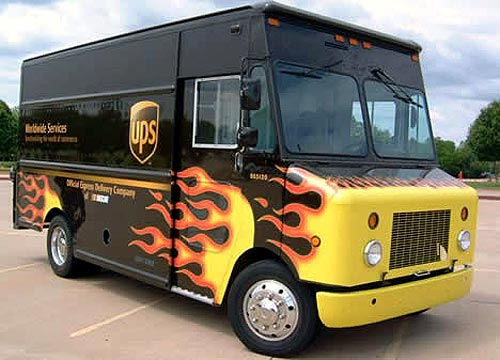UPS Airbrushed Hot Rod Truck