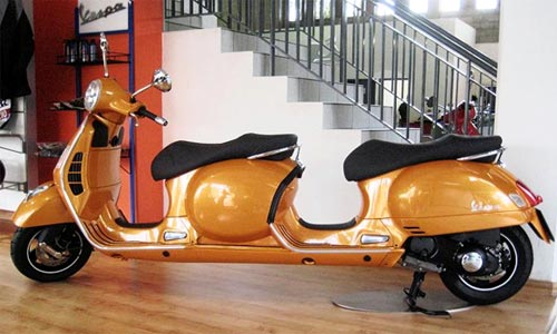 Vespa With Four Seats