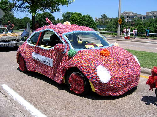 VW Bug Knit Car Cover