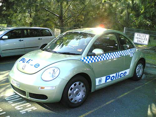 VW Beetle Police Car