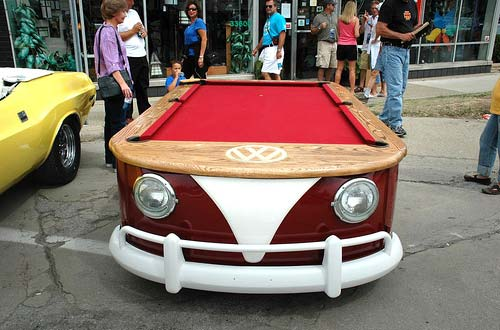 Vintage Volkswagen Split-Window Bus Pool Table
