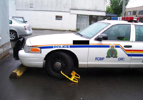 Wheel Boot Lock on a Police Car