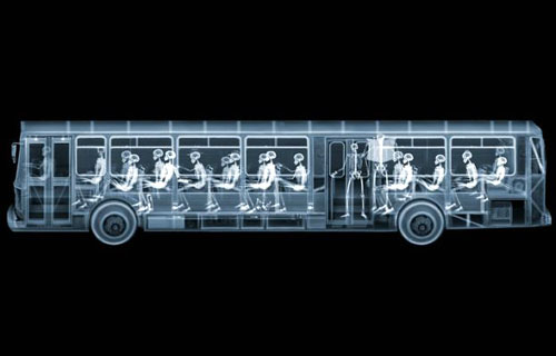 X-Rayed City Bus