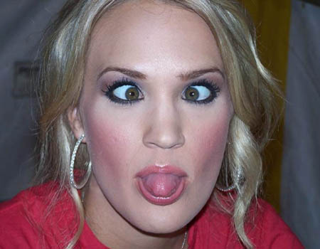 Candid Cross-Eyed Carrie Underwood