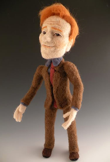 Felted Conan O'Brien Doll