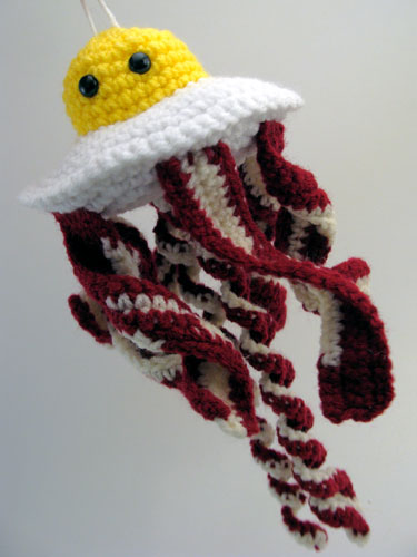Bacon & Egg Jellyfish Amigurumi