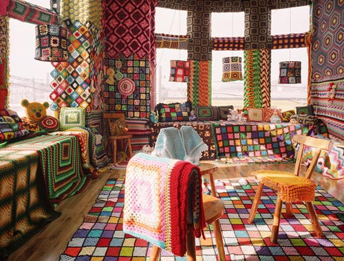 Granny Square Afghan Room