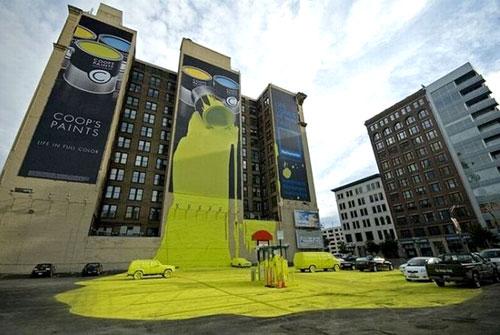 Coop's Paint Wallscape Campaign