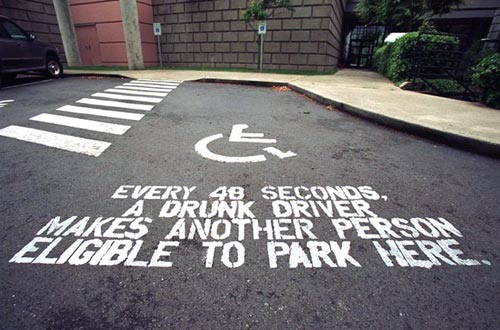 Drunk Driver Wheelchair Statistics Awarness Campaign