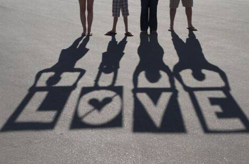 Love Written In Shadow Shapes